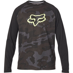 Fox Tournament Langarm Tech T-Shirt Herren black camo
